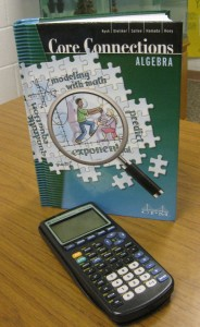 2013 8th & 9th Grade Algebra book and graphing calculator